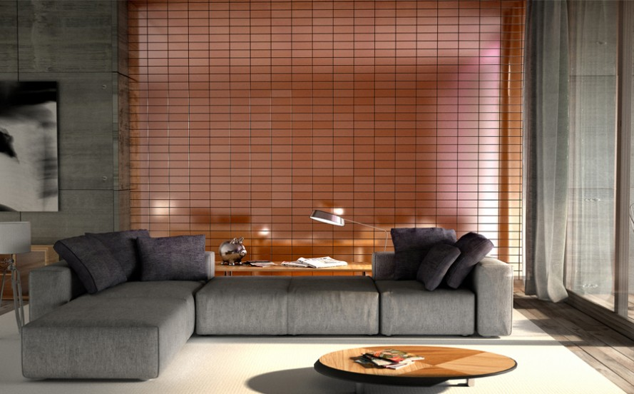 Alloy copper subway metal tile browse or buy from Attica tiles Perth