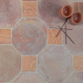 Cotto Etrusco Octagon Natural with Timber